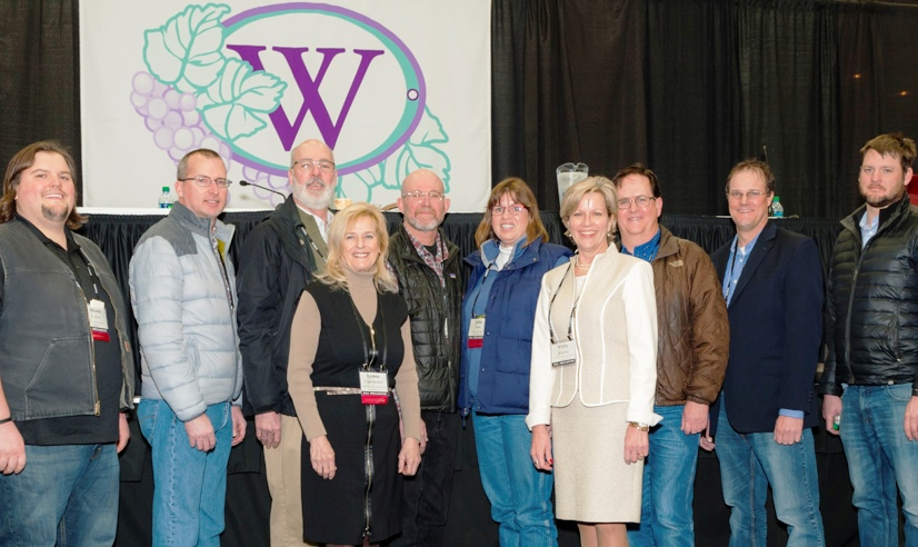 The 2016 WAWGG Board, from left to right: Shane Collins, John Derrick, Mike Means, Lynne Chamberlain, Scott Williams, Julia Kock, Vicky Scharlau (WAWGG Executive Director), Ken Lewis, Todd Newhouse, and Patrick Rawn.
