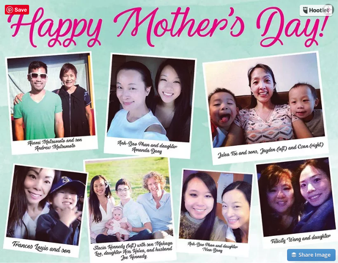 Happy Mothers Day NW Asian Weekly 2017
