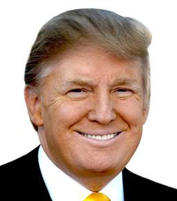 US President Donald Trump headshot
