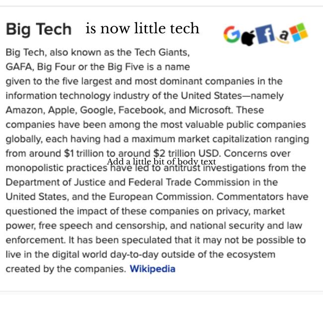Big Tech is now little tech Joe Conspiracy Theorist Kennedy