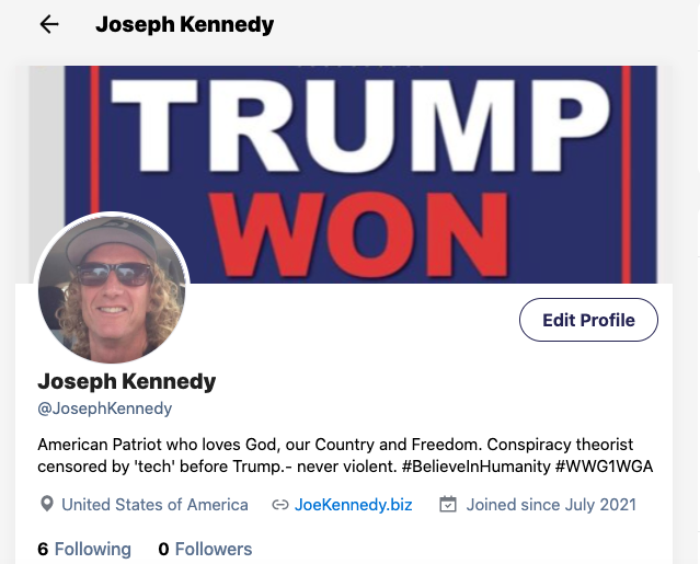 Joseph Kennedy on Gettr